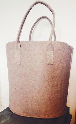 Pink felt storage basket