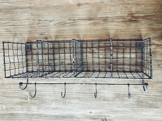 Wire metal hanging rack