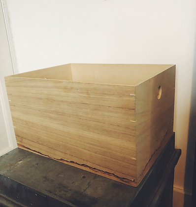 Light wood storage crate