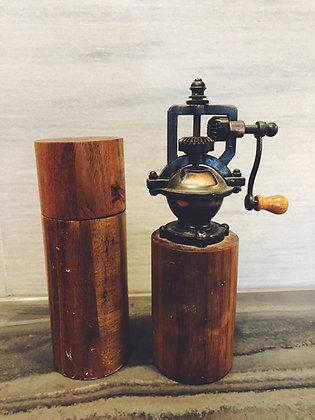 Wooden salt + pepper grinder