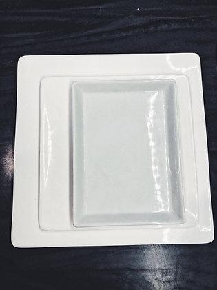 Square serving plates