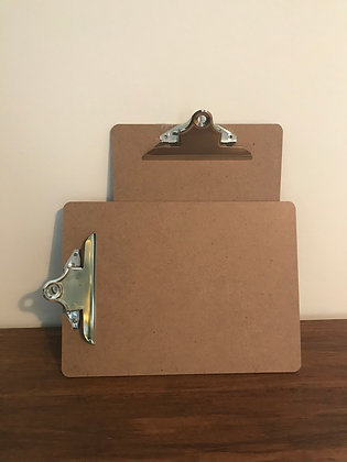 A4 wooden clipboards - 5 available