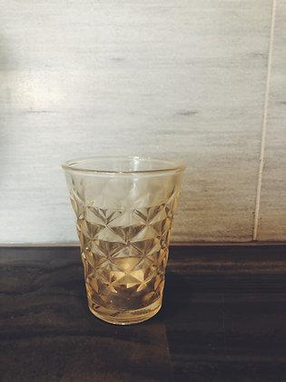 Small cut glass votive