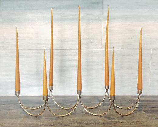 Brass candelabra