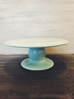 Pale blue cake stand