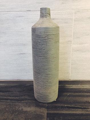 Large grey bottle vase