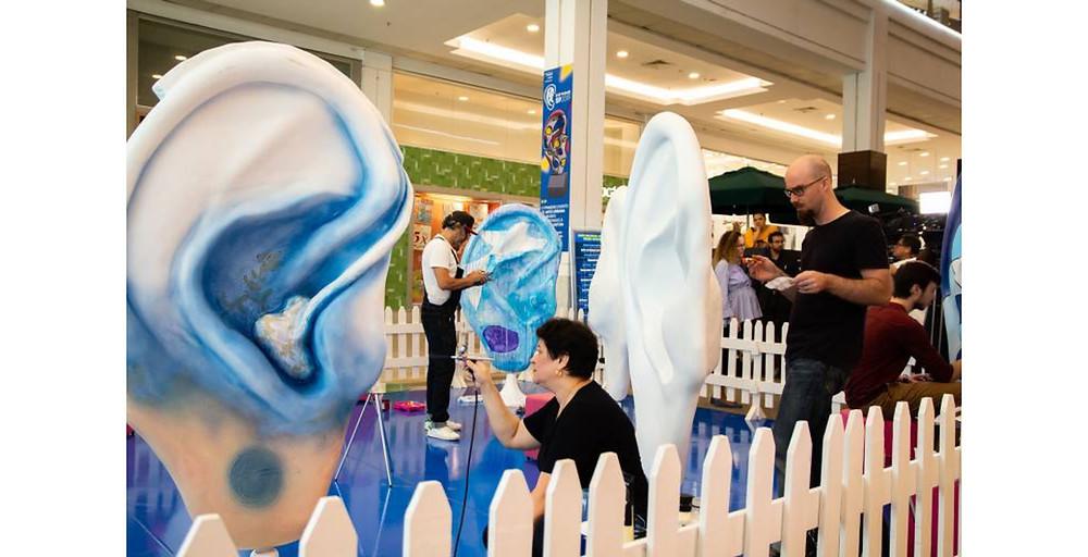 Evento de arte em São paulo, prevenção da perda auditiva