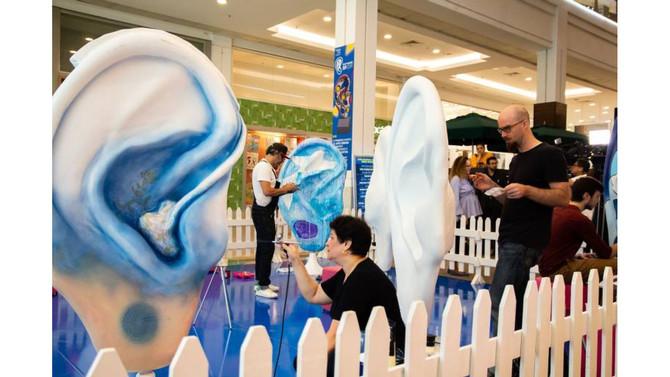 Evento de arte urbana em SP alerta sobre a saúde auditiva