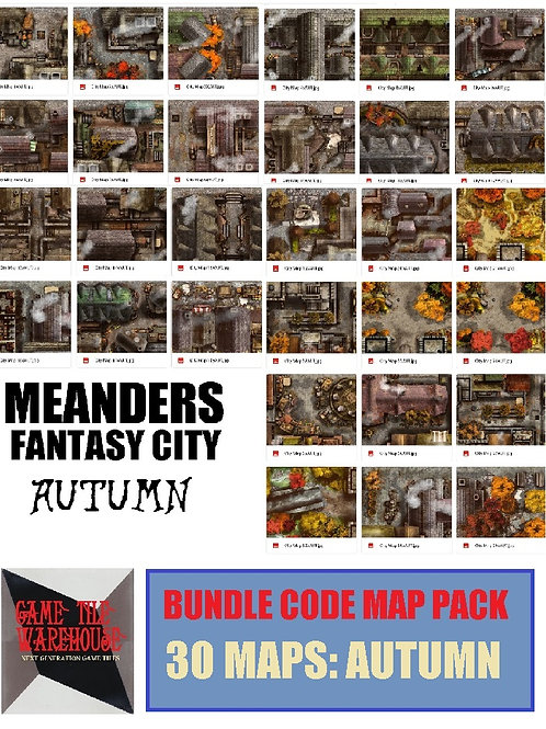 Meanders 4: AUTUMN Fantasy City Map Bundle Code