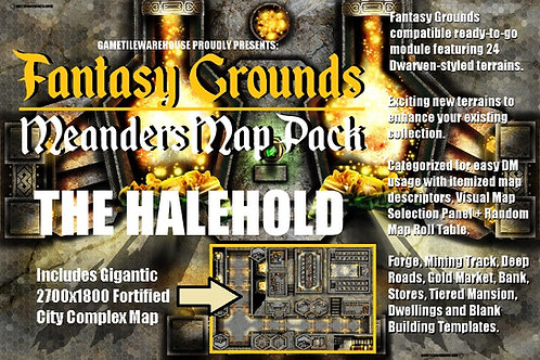 The Halehold: Fantasy Grounds Meanders Map Pack