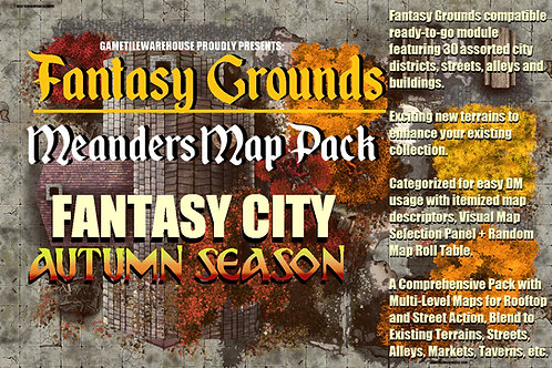 Autumn Fantasy City: Fantasy Grounds Meanders Map Pack