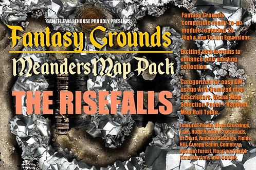 The Risefalls: Fantasy Grounds Meanders Map Pack