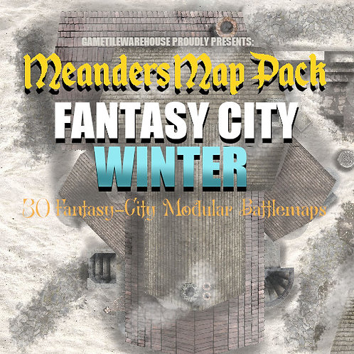 Fantasy City WINTER: Roll20 Meanders Map Pack