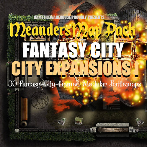 Fantasy City Expansion I: Roll20 Meanders Map Pack