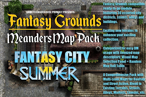 Summer Fantasy City: Fantasy Grounds Meanders Map Pack