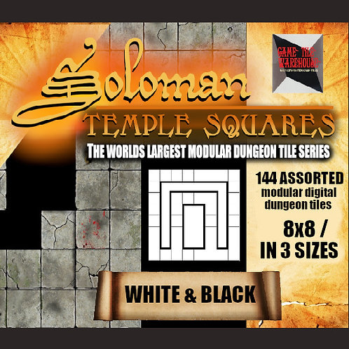 Soloman Temple Squares - WHITE AND BLACK