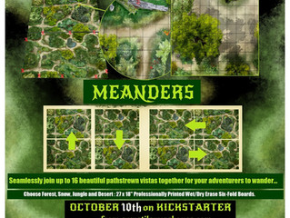Meanders: Gigantic RPG Terrain Boards that fit seamlessly with one another