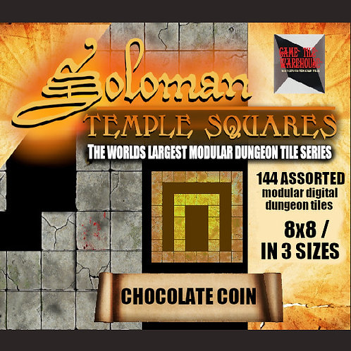 Soloman Temple Squares - CHOCOLATE COIN