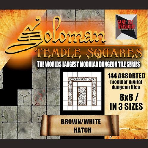 Soloman Temple Squares - BROWN/WHITE HATCH