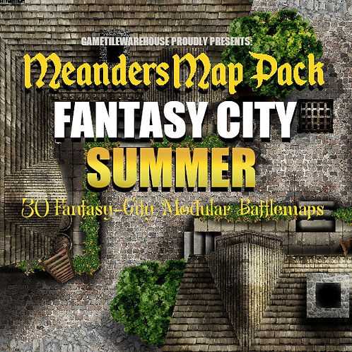 Fantasy City SUMMER: Roll20 Meanders Map Pack