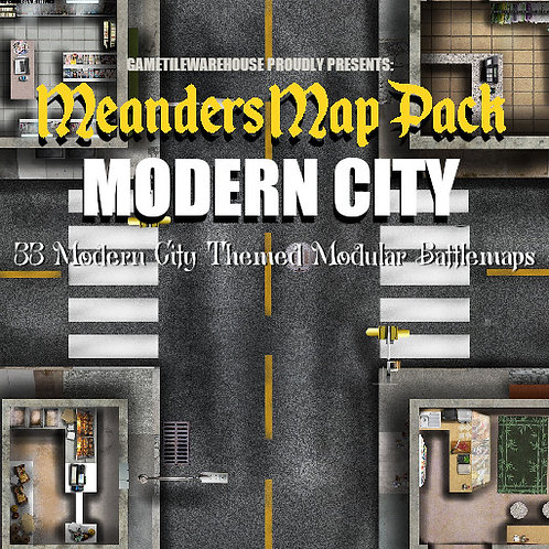 Modern City: Roll20 Meanders Map Pack