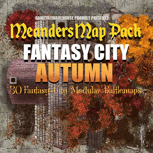 Fantasy City AUTUMN: Roll20 Meanders Map Pack