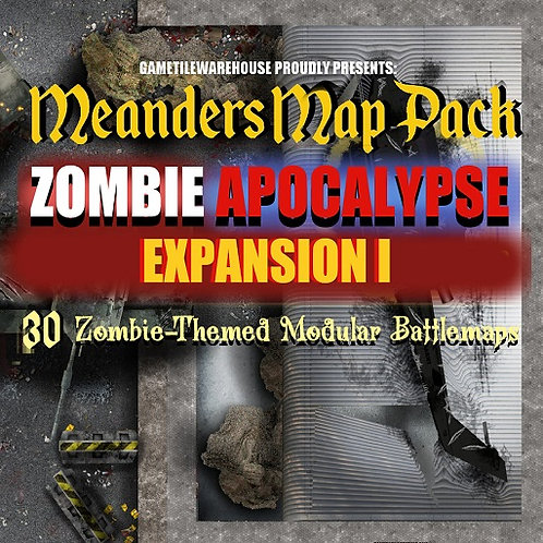 Zombie Apocalypse Expansion I: Roll20 Meanders Map Pack