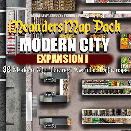 Modern City Expansion I: Roll20 Meanders Map Pack