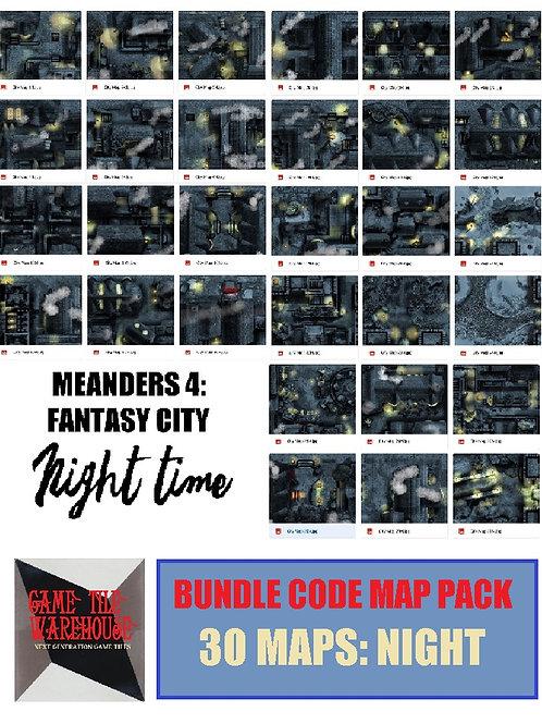 Meanders 4: NIGHT Fantasy City Map Bundle Code