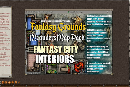 Interior Fantasy City: Fantasy Grounds Meanders Map Pack