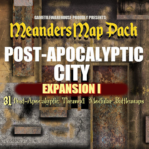 Post-Apocalyptic City Expansion I: Roll20 Meanders Map Pack