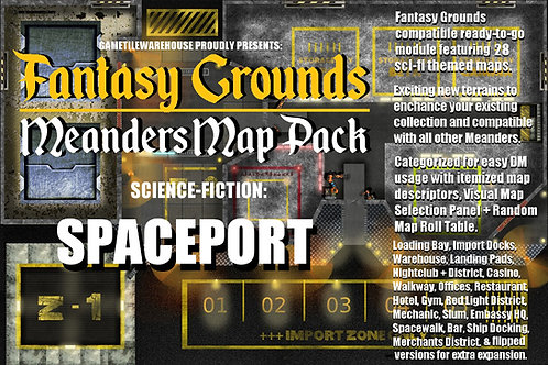 Spaceport: Fantasy Grounds Meanders Map Pack