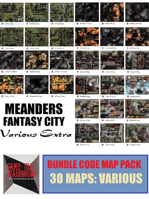Meanders 4: VARIOUS Fantasy City Map Bundle Code