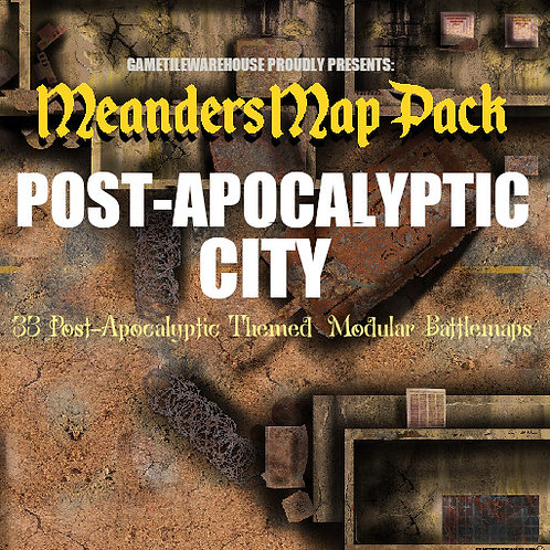 Post-Apocalyptic City: Roll20 Meanders Map Pack