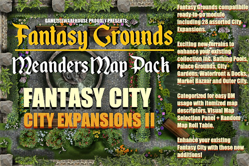 Fantasy City Expansion II: Fantasy Grounds Meanders Map Pack