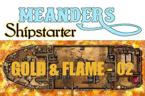 Shipstarter Gold and Flame - B