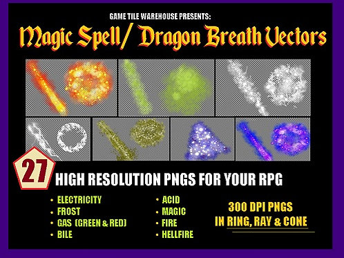 Magic Spell/Dragon Breath Weapon Vector Pack