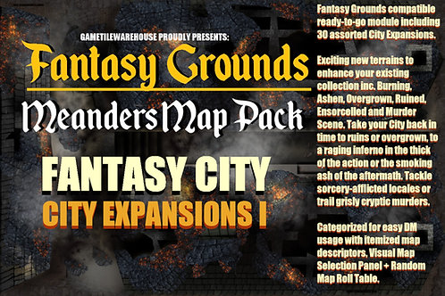 Fantasy City Expansion I: Fantasy Grounds Meanders Map Pack