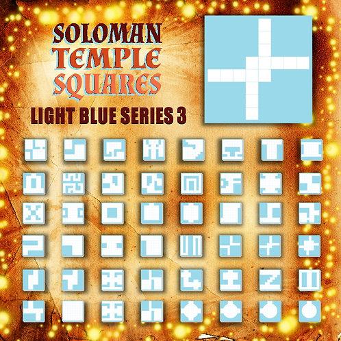 Soloman Temple Squares: Light Blue Series3