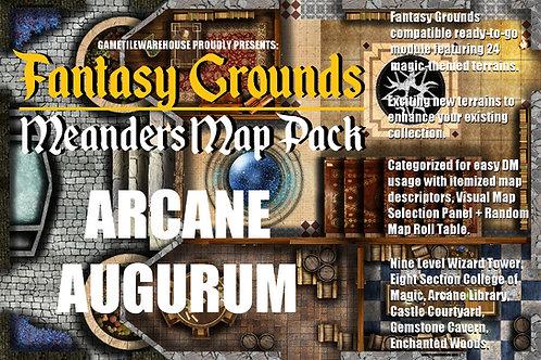 Arcane Augurum: Fantasy Grounds Meanders Map Pack
