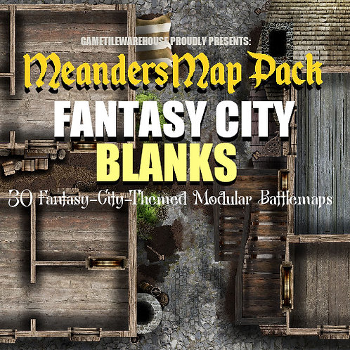Fantasy City BLANKS: Roll20 Meanders Map Pack
