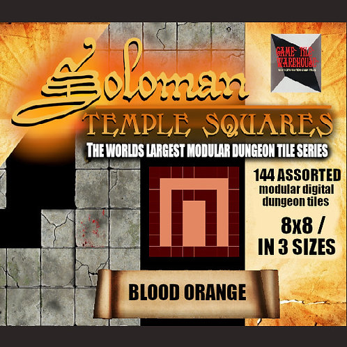 Soloman Temple Squares - BLOOD ORANGE