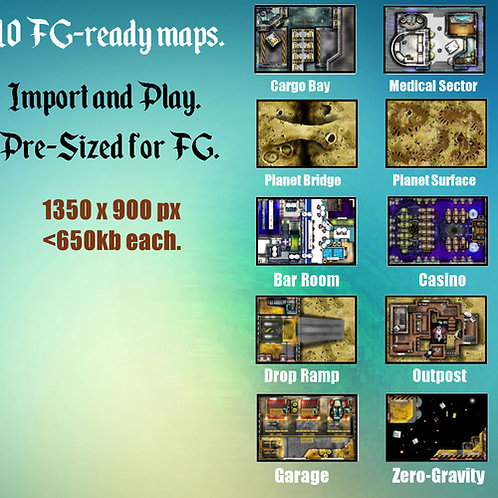 FG-Compatible Sci-fi Digital Map Pack