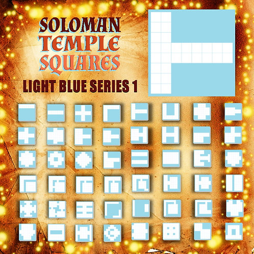 Soloman Temple Squares: Light Blue Series 1