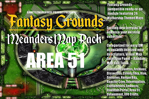 Area 51: Fantasy Grounds Meanders Map Pack