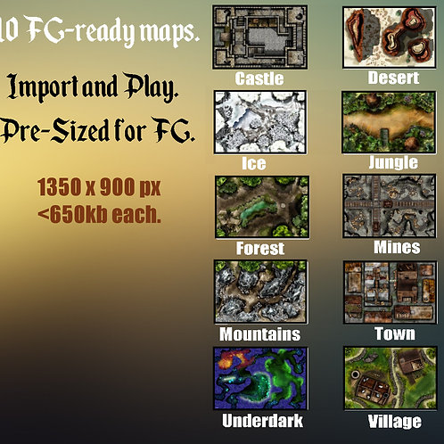 FG-Compatible Fantasy Digital Map Pack