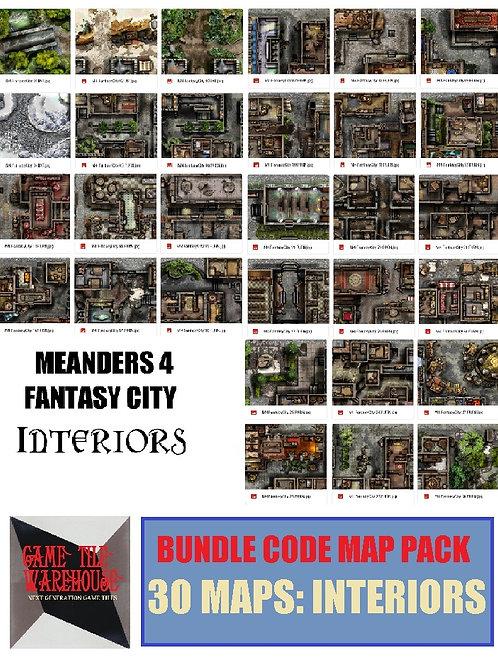 Meanders 4: INTERIORS Fantasy City Map Bundle Code