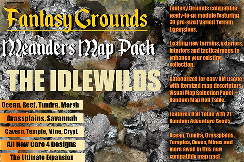 The Idlewilds: Fantasy Grounds Meanders Map Pack