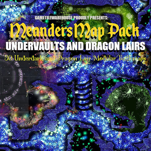 Undervaults and Dragon Lairs: Roll20 Meanders Map Pack