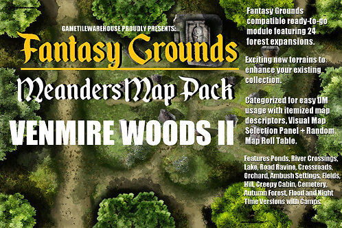 Venmire Woods II: Fantasy Grounds Meanders Map Pack